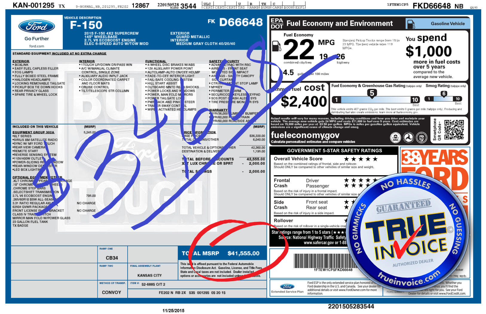 true invoice 2016 ford f150 With ford f150 invoice